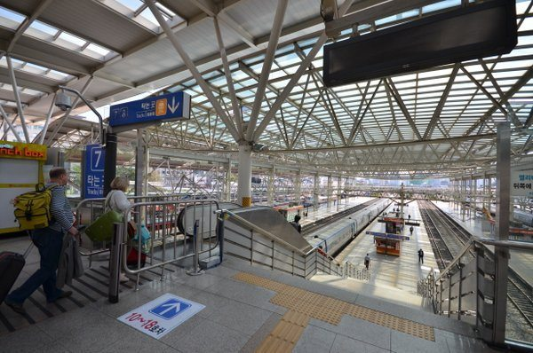 Going to Busan from Seoul by KTX High-speed Train