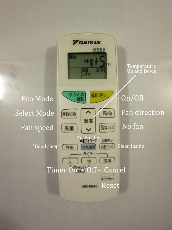 how to use air-conditioning remotes in japan